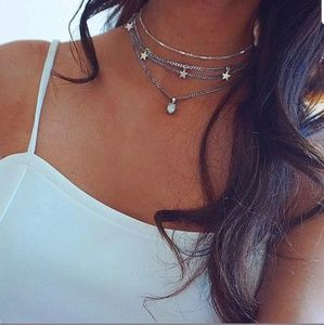 Jewelry - Boutique | Opal Star Layered Chokee Necklace